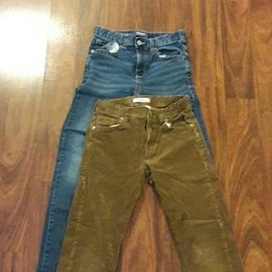 Gymboree courderoy brown and blue Old Navy jeans